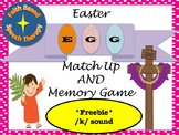 SLP Articulation Easter Egg Matchup and Memory Game *Freeb
