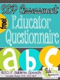 SLP Assessment Educator Questionnaire