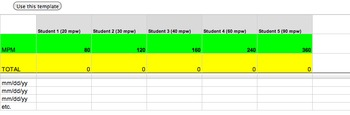 SLP Attendance in Google Docs (for 50-minute sessions)