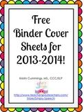 SLP Binder Cover Sheets 2013-2014
