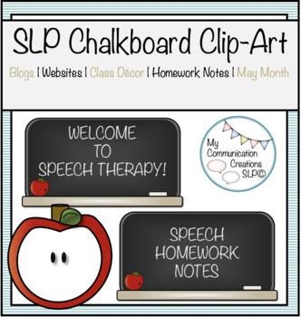 SLP Chalkboard Clip-Art Set