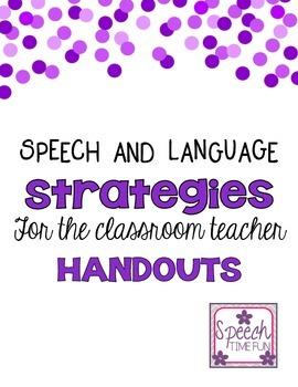 SLP Classroom Strategies