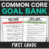 Speech Therapy Common Core First Grade Goal Bank