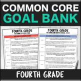 Speech Therapy Common Core Fourth Grade Goal Bank Bundle