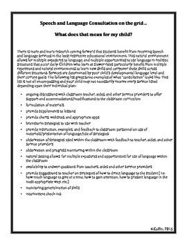 SLP Consultation Parent Handout
