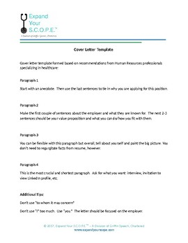 SLP Cover Letter Template By Autumn Bryant