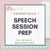 Speech Session Prep Sheet
