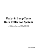 SLP Data Collection Bundle- Daily Data Forms & Year-Long A