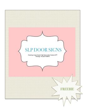SLP Door Signs {Testing} {In Session} FREEBIE!!!
