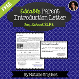 SLP Editable Letter of Introduction to Parents Template - Free