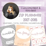 SLP Editable Planner, 2017-2018 School Year; great for Back to School!