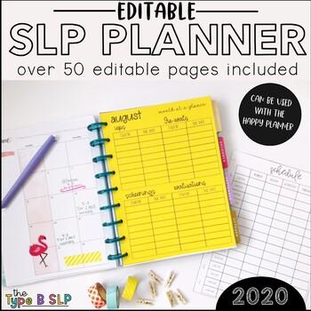SLP Editable Planner Inserts: Back to School Ready
