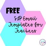 SLP Email Templates for Teachers