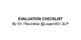 SLP Evaluation Checklist