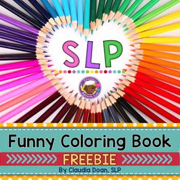 SLP Funny Adult Coloring Book Freebie