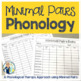 Phonology Minimal Pairs/Oppositions:  Go-To Quick Skill and Drill