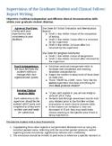SLP Graduate Student Report Writing Resource printable