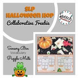 SLP Halloween Hop: Sensory Bin Vocabulary Puzzle Mats
