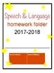 SLP Homework Folder Labels