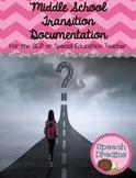 Transition Implementation Documentation {for SLP or Special Education Teacher}