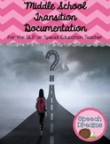 Transition Implementation Documentation {for SLP or Special Education Teacher}