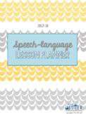 SLP Calendar/Lesson Planner 2017-18