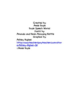 SLP Lesson Plan Template by Doyle Speech Works | TpT
