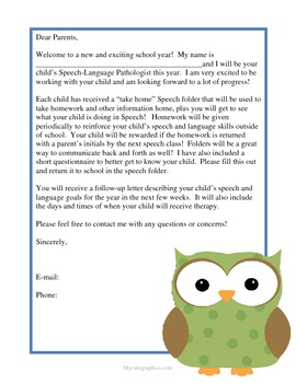 SLP Letter to Parents