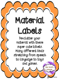 SLP Material Labels 100 ct!