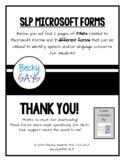 SLP Microsoft Forms for Speech/Language Concerns