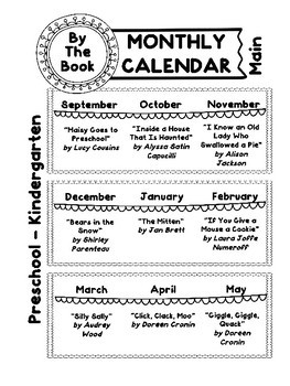SLP Monthly Planner for Narrative-Based Instruction