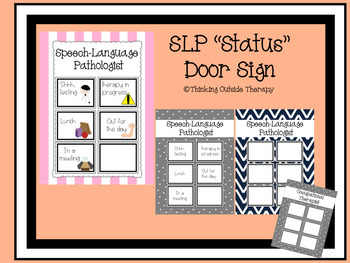 SLP/OT Status Door Sign