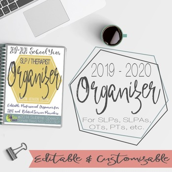 Editable SLP Organizer