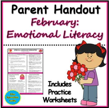 SLP Parent Handout for February (Emotional Literacy)