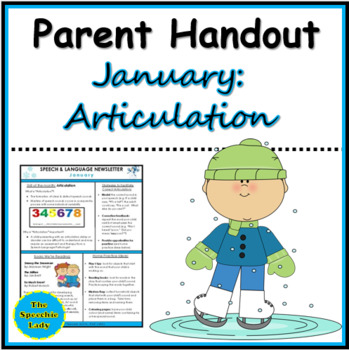 Parent Handout for January (Articulation)