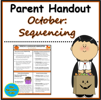 SLP Parent Handout for October (Sequencing)