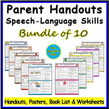 Parent Handouts BUNDLE OF 10!
