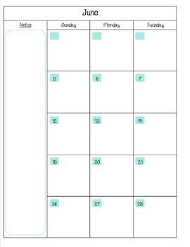 SLP Planner/Calendar 2015-2016