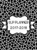 SLP Planner 2017-2018 Black and White Version