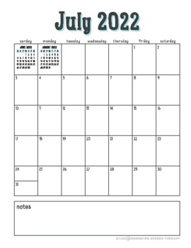SLP Planner 2017-2018 with Hand-lettered Font