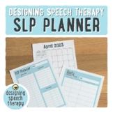 SLP Planner 2018-2019 with Hand-lettered Font {FREE yearly updates!}