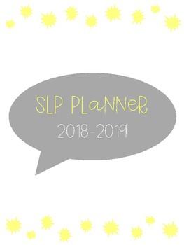 SLP Planner 2017-2018 Gray & Yellow Version