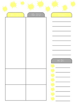 SLP Planner 2018-2019 Gray & Yellow Version