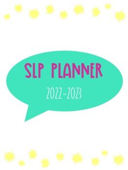 SLP Planner 2017-2018 Teal & Purple Version