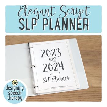 SLP Planner 2017-2018 with Elegant Script Font