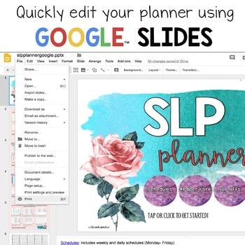 SLP Planner | Google Drive | Speech Therapy Data Sheets