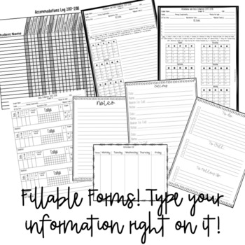 SLP Planner and Fillable Forms 2017-2018