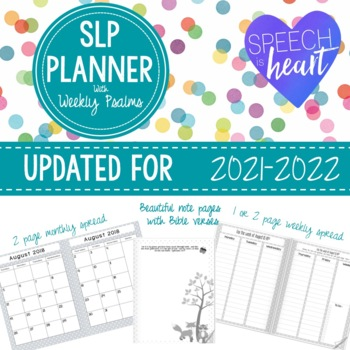 SLP Planner with Psalms: *Updated for 2017-2018*