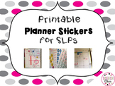 Printable Planner Stickers for SLPs