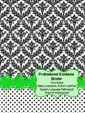 SLP Professional Evidence Binder